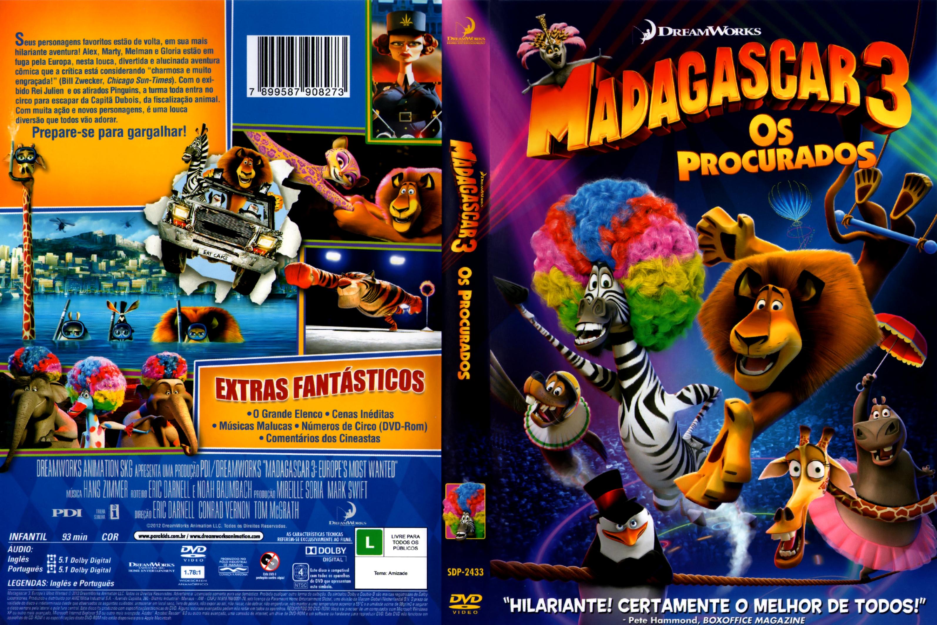 filme madagascar 3 os procurados para